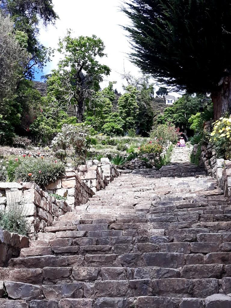 Escalier inca, Isla del Sol, Lac Titicaca, Bolivie Photo : Espaces Andins