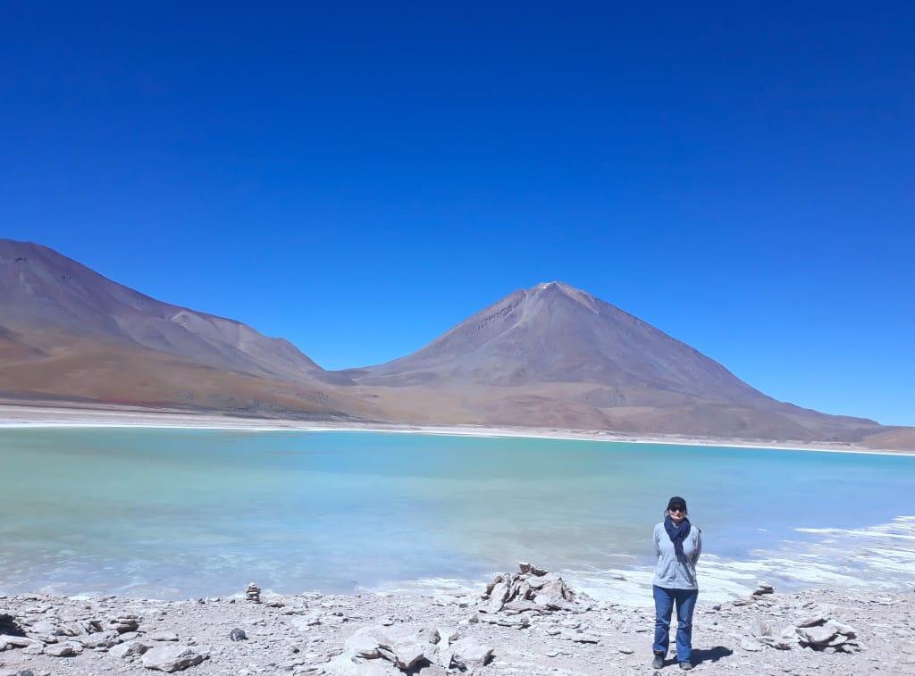 La laguna verde et le Volcan Licancabur en Bolivie Photo : Espaces andins