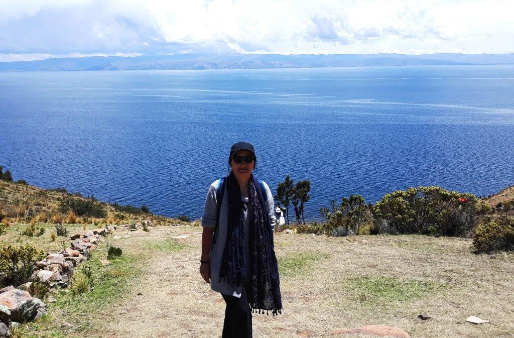 Au sommet du chemin de la femme à l'ile de la lune, Lac Titicaca, Bolivie Photo : Espaces Andins