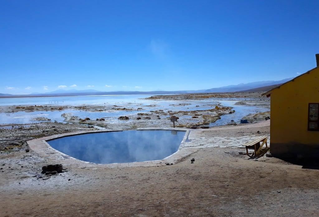 Les sources d'eau chaude de Polques en Bolivie Photo : Espaces Andins