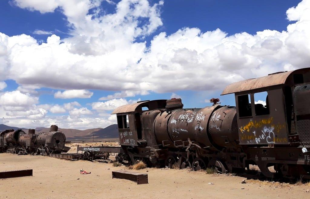 Le cimetière des trains d'Uyuni en Bolivie // Photo : Espaces Andins