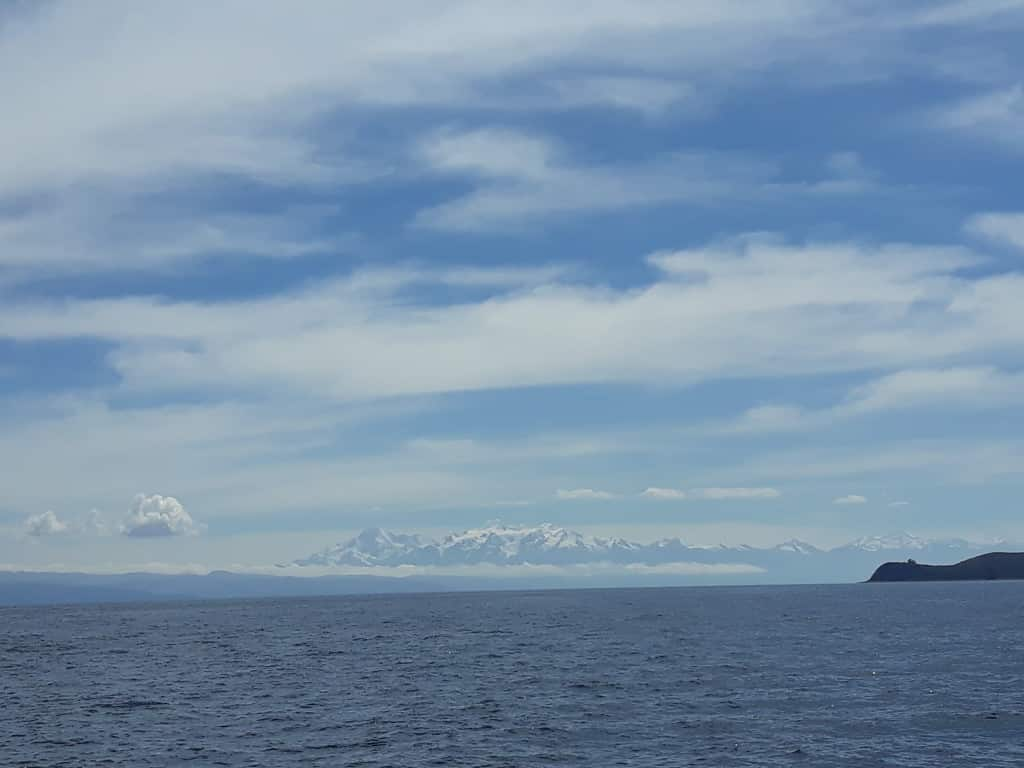 Vue sur la cordillère royale, Lac Titicaca, Bolivie Photo : Espaces Andins
