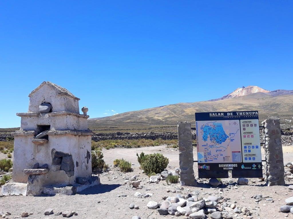 Vue sur le volcan Thunupa, Bolivie Photo : Espaces Andins