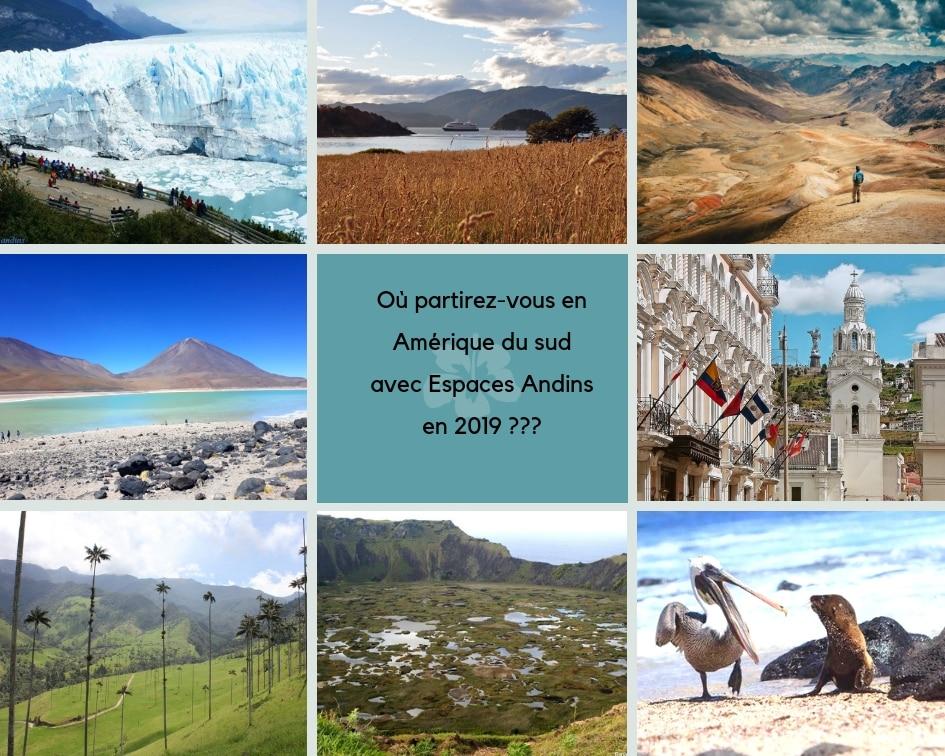Amérique Du Sud Avec Espaces Andins : Argentine, Chili, Bolivie, Perou, Equateur, Colombie