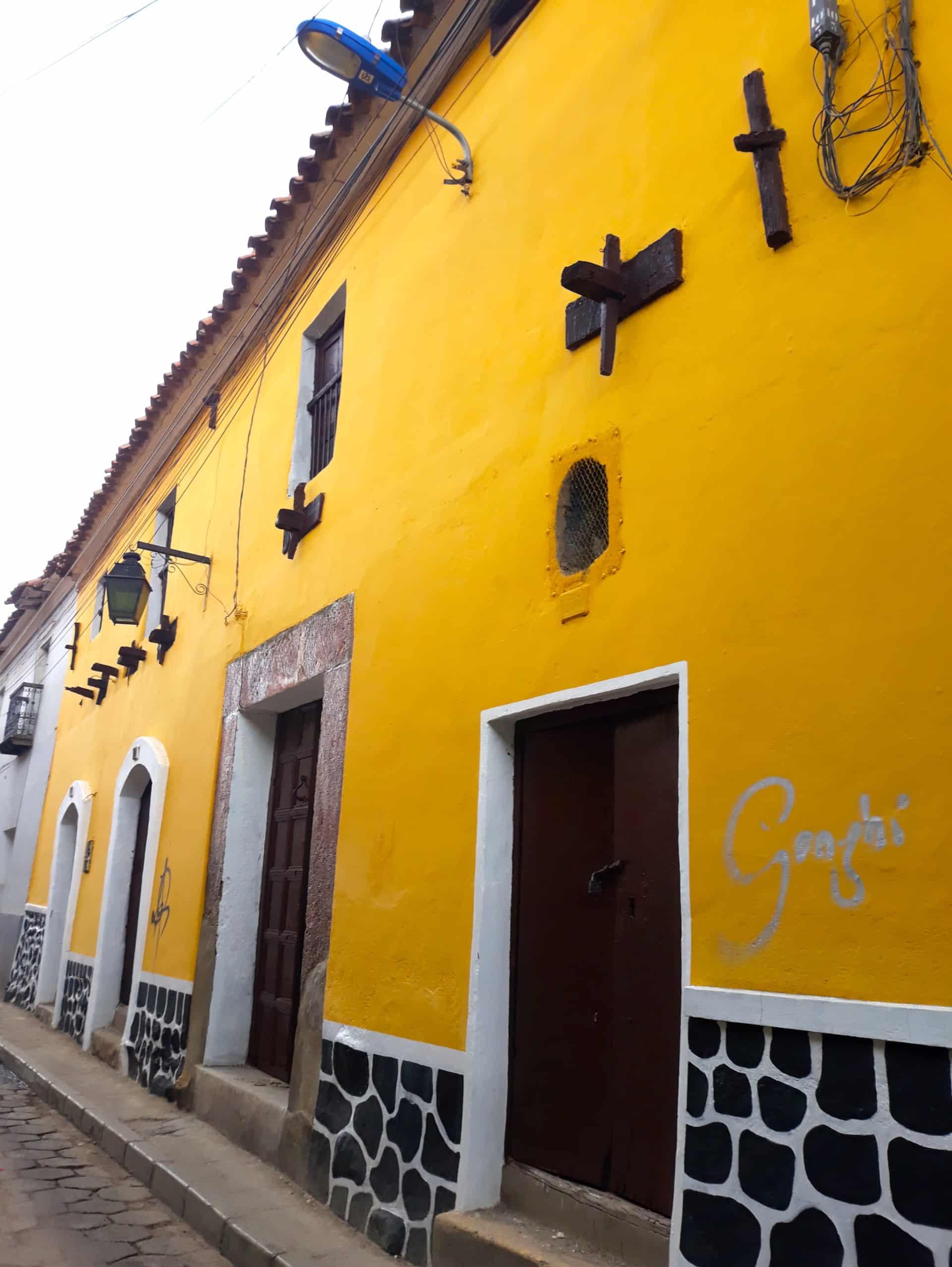 Facade Colorée Potosi, Bolivie