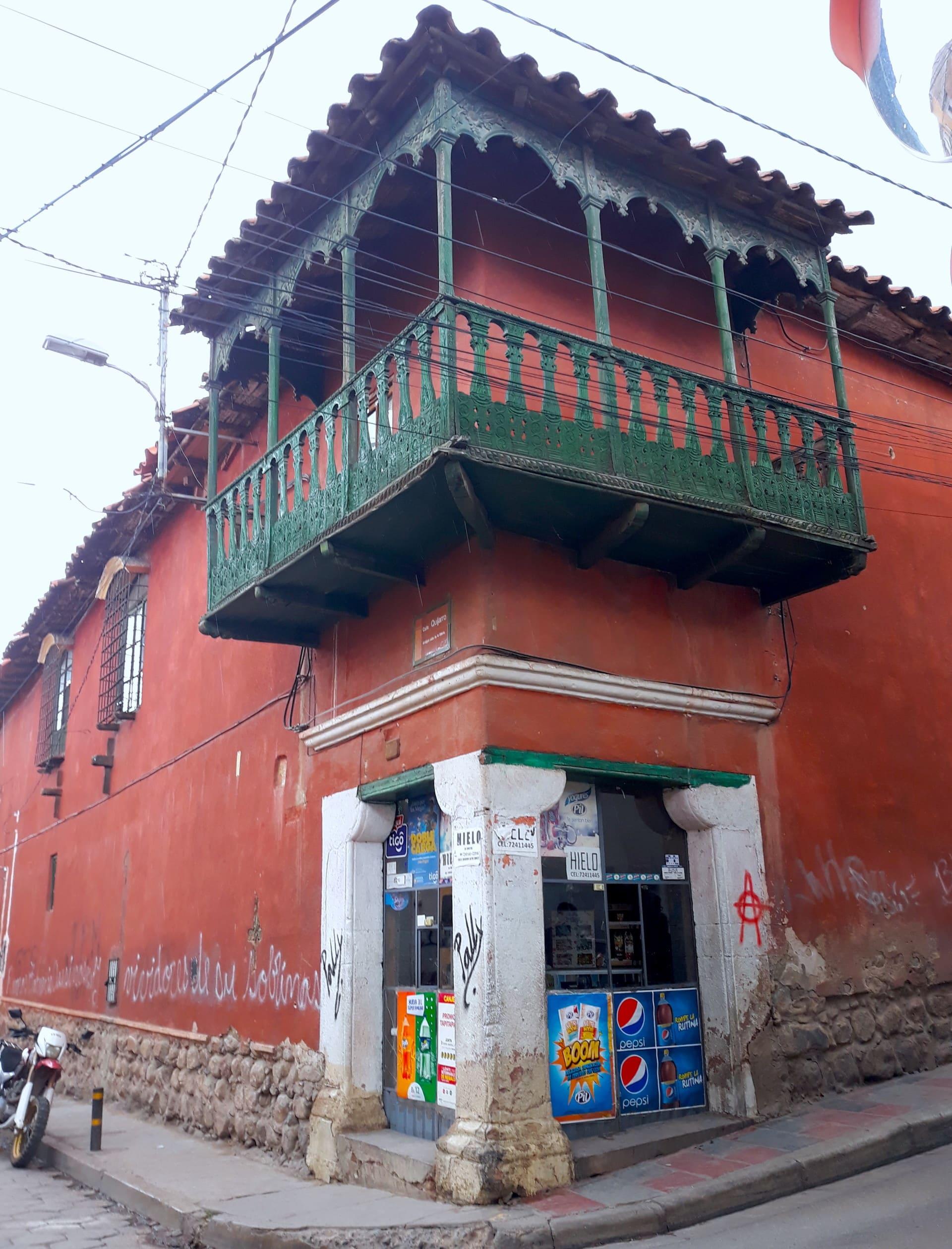Facade Maison Potosi, Bolivie