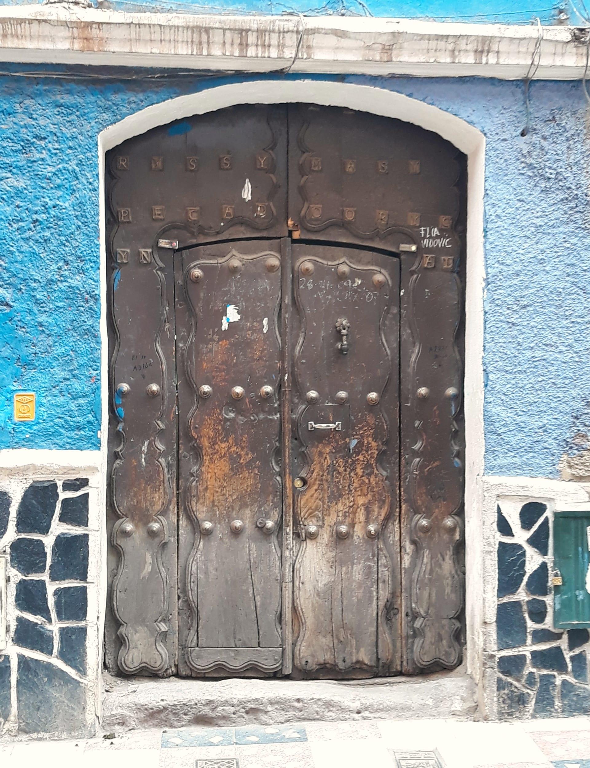 Porte En Bois, Rue De Potosi, Bolivie