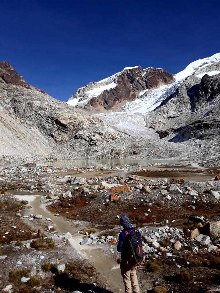 en bas du glacier Huyana potosi, Bolivie
