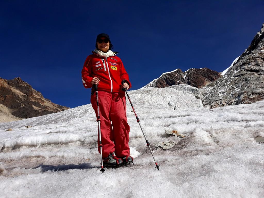 sur le glacier Huyana Potosi, Bolivie