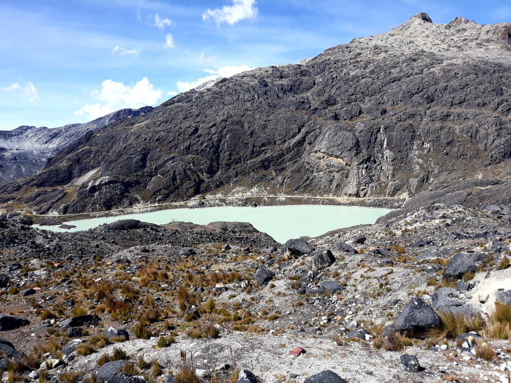 La vue du glacier, en Bolivie