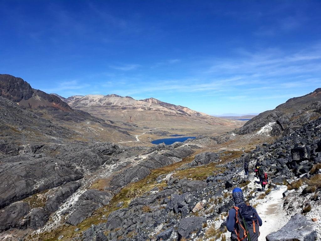 Randonnée avant d'arrivée au glacier Huyana Potosi, Bolivie