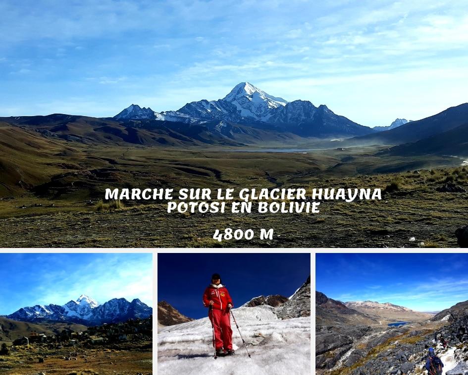 Journée Marche Sur Le Glacier Huyana Potosi Dans Les Andes Boliviennes