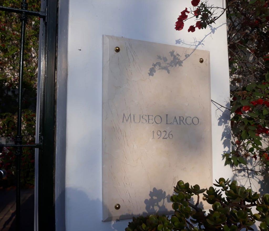 L'entrée du Musée Larco à Lima, Pérou