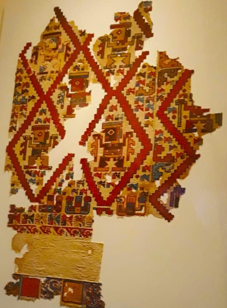 Le textile, dans le musée Larco, Lima, Pérou