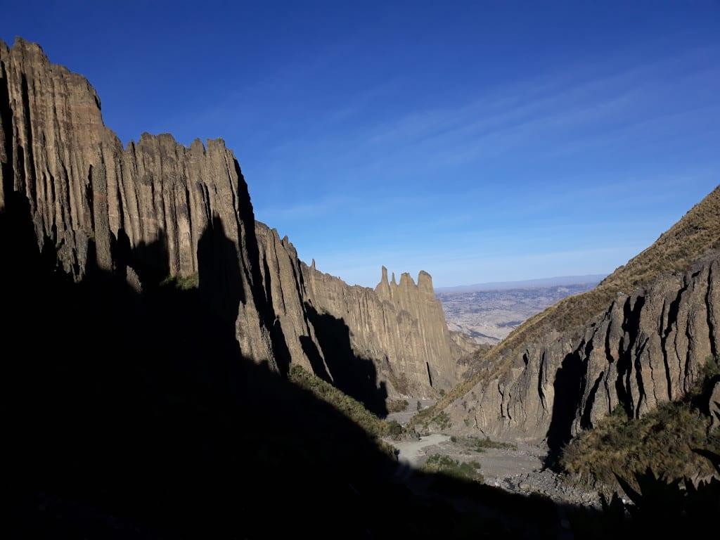 Vue sur la vallée de las animas et ses splendides formations rocheuses