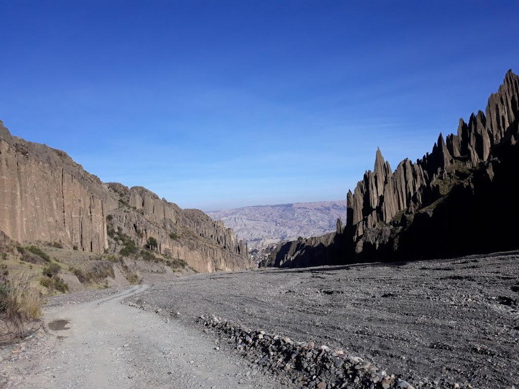 Les pics de la vallée de las animaux dans les environs de La Paz, en Bolivie