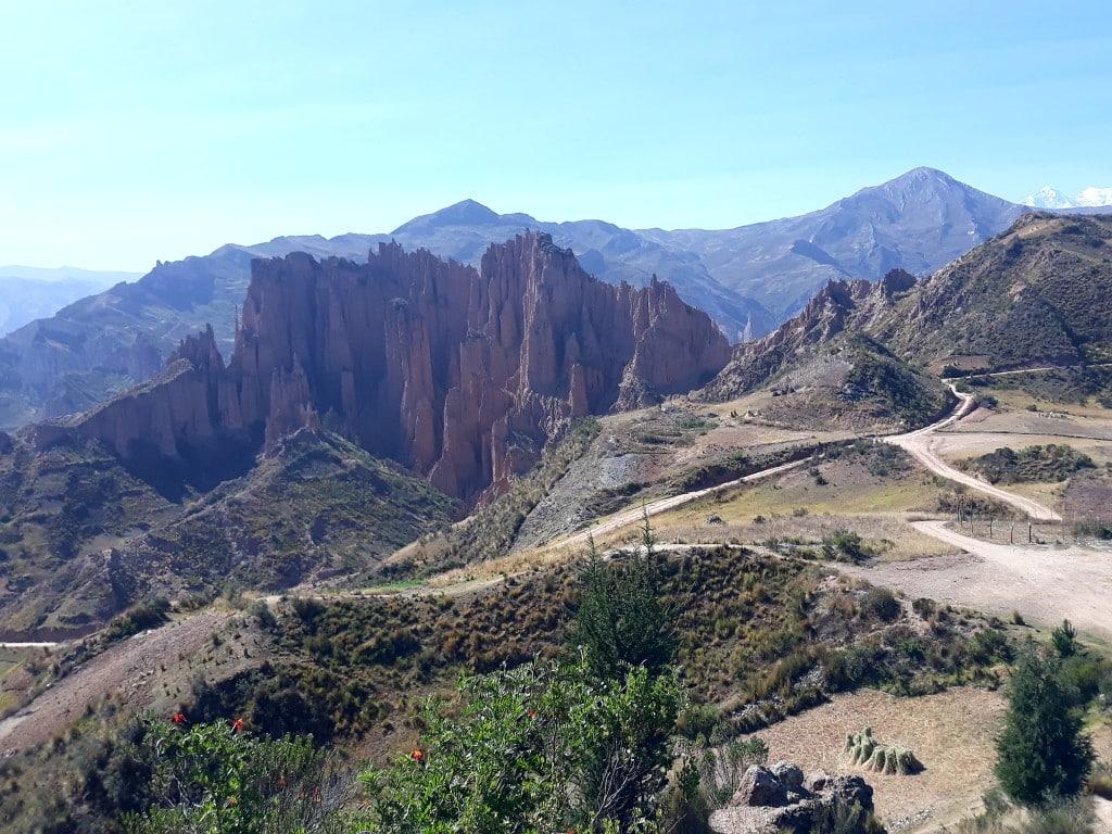 Vue de la muela del diablo, au départ de la Paz, Bolivie