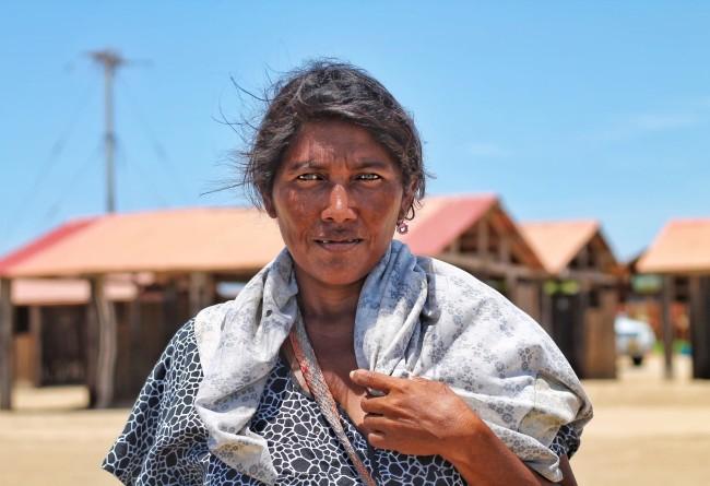 Une Dame à Cabo De La Vela, Colombie