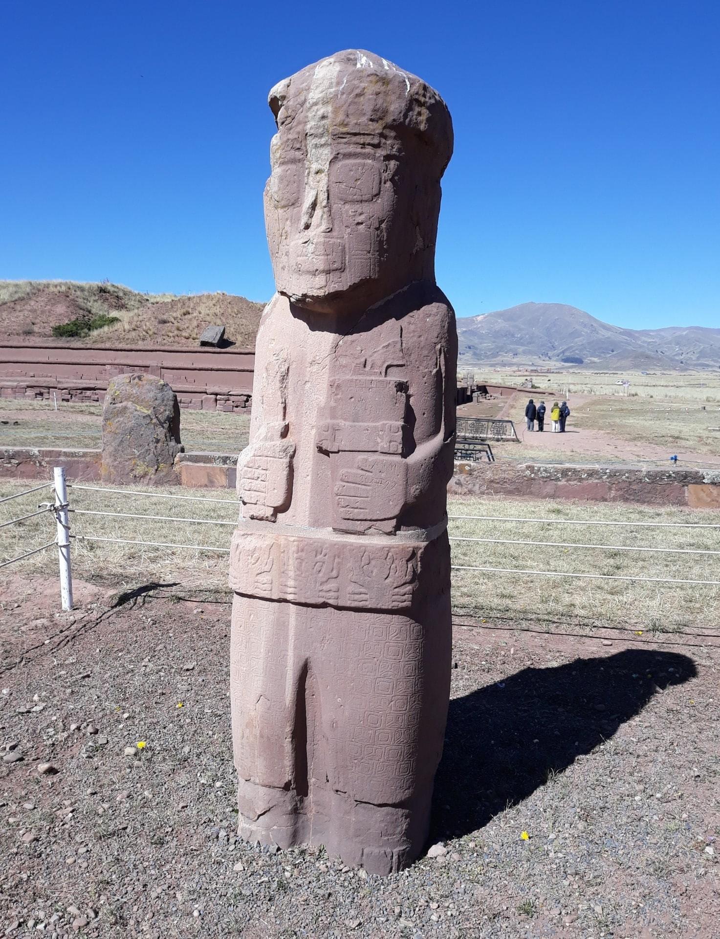 Le Monolithe à Tiwanaku, Bolivie