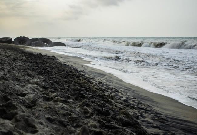 Plage De Palomino, La Guajira, En Colombie