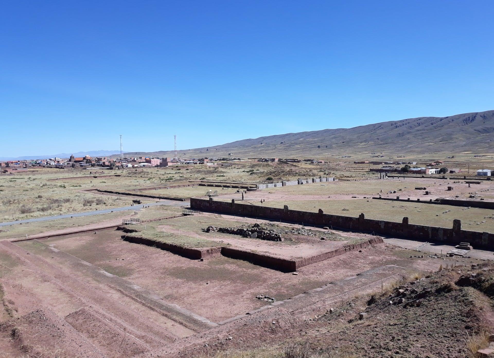 Pyramide Akapana, Tiwanaku, Bolivie