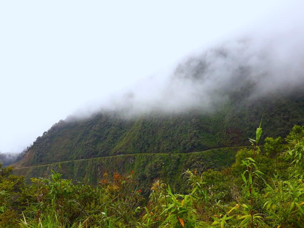 La route de la mort et son cadre vert, Bolivie
