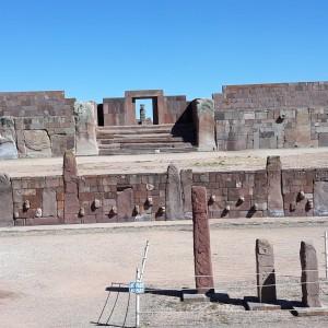 Le Temple Sous Terrain, Tiwanaku, Bolivie