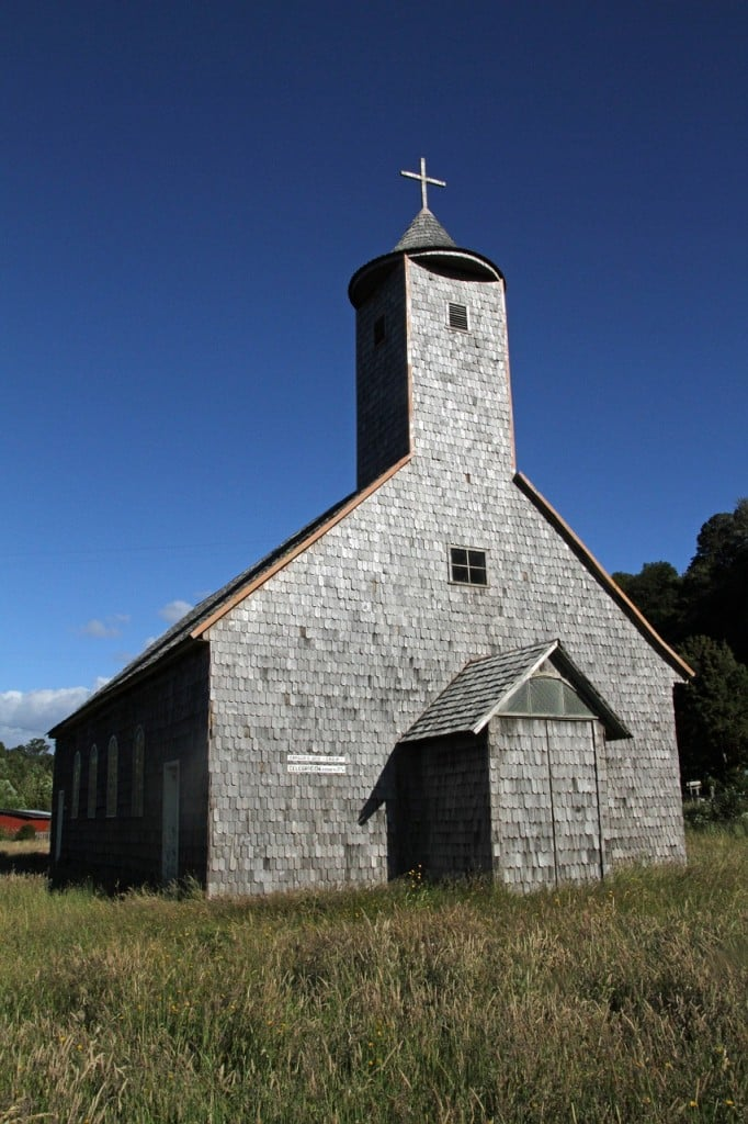 église traditionnelle de Chiloe, au chili