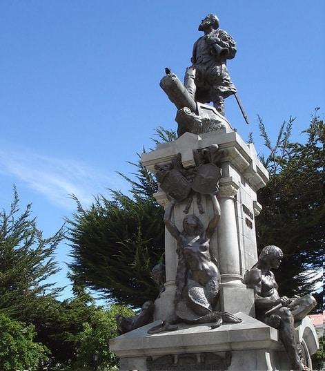 Monument Fernando Magellan, Punta Arenas, Chili