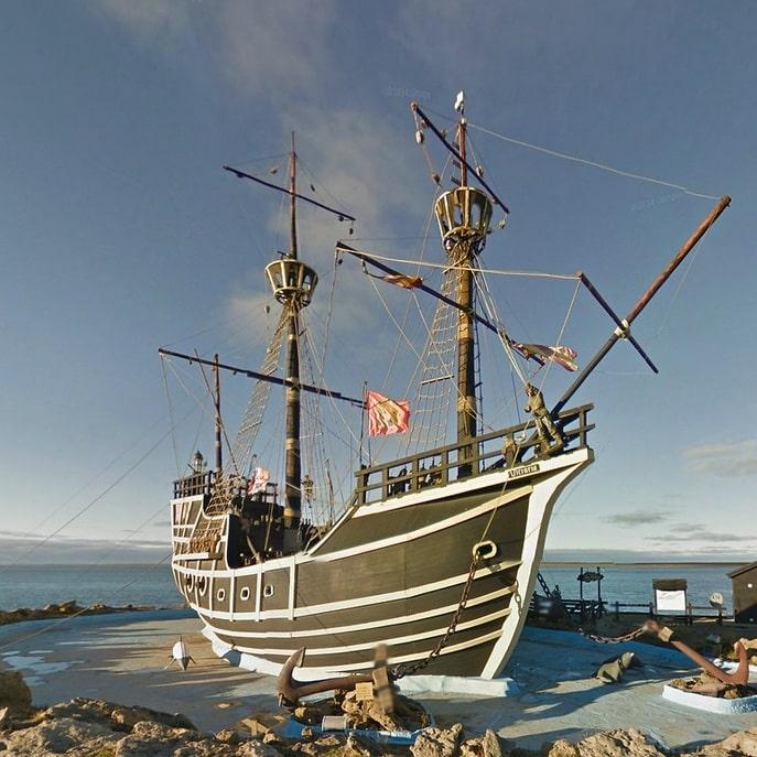 San Julian, réplique navire de Magellan, en Patagonie Argentine