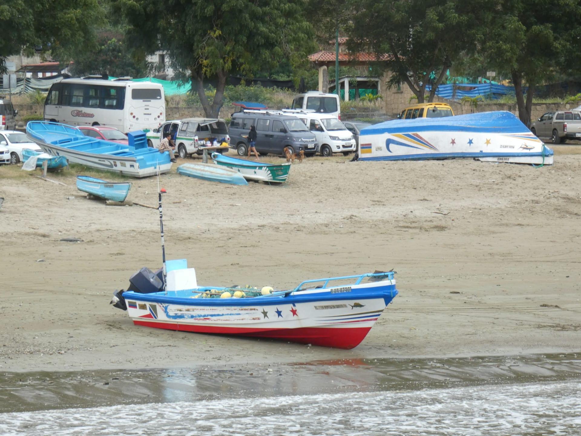 Bateau De Pecheurs Cote Pacifique Equatorienne