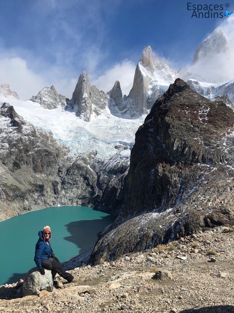 cliente espaces andins au Fitz roy lors de son voyage en Argentine
