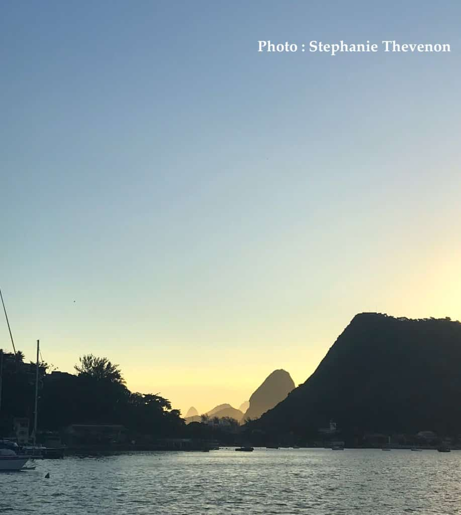 sortie catamaran coucher de soleil